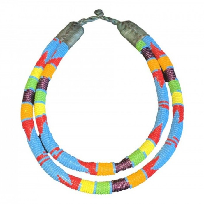 Zulu double necklace