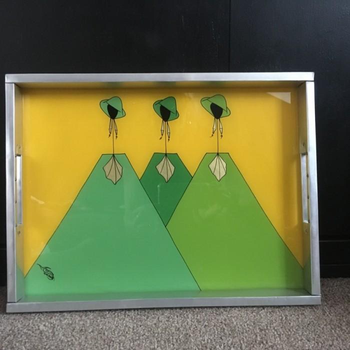 Glass & Aluminium tray