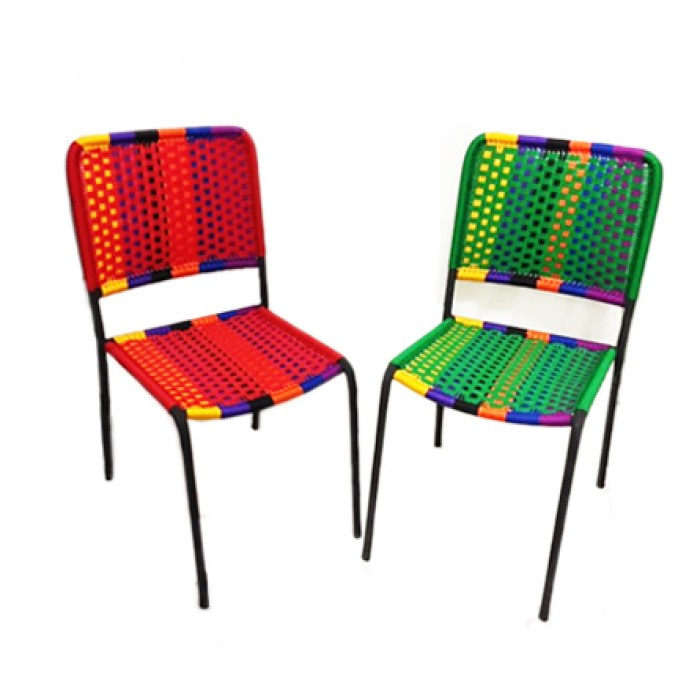 Multi colour dining chair