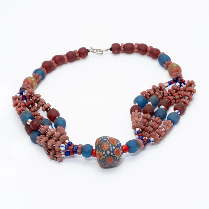 Krobo bead necklace