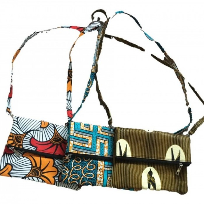 African cloth clutch bags
