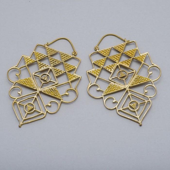 Large sacred geometry earrings