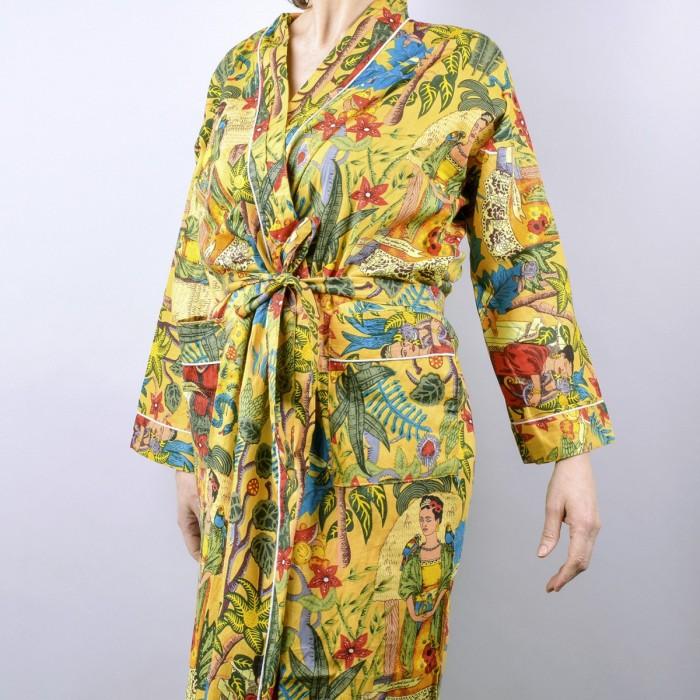 Frida's Garden Kimono yellow