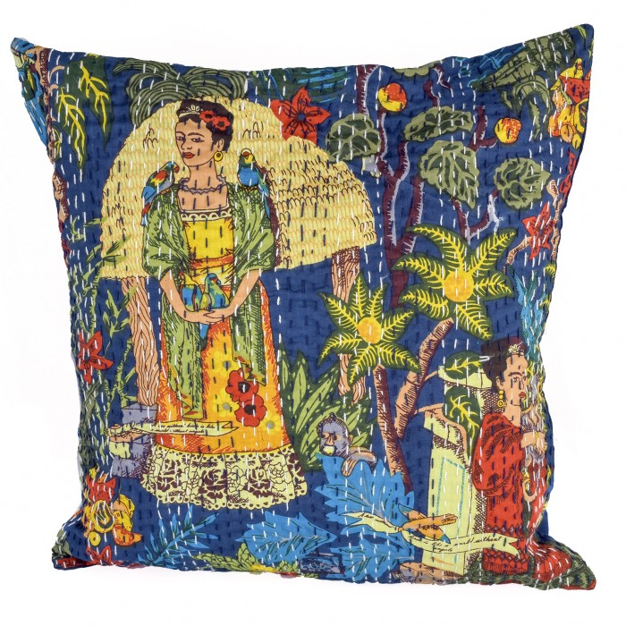 Frida's Garden cushion cover - Cerulean Blue