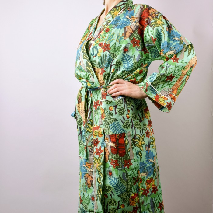 Frida's Garden Kimono Mint