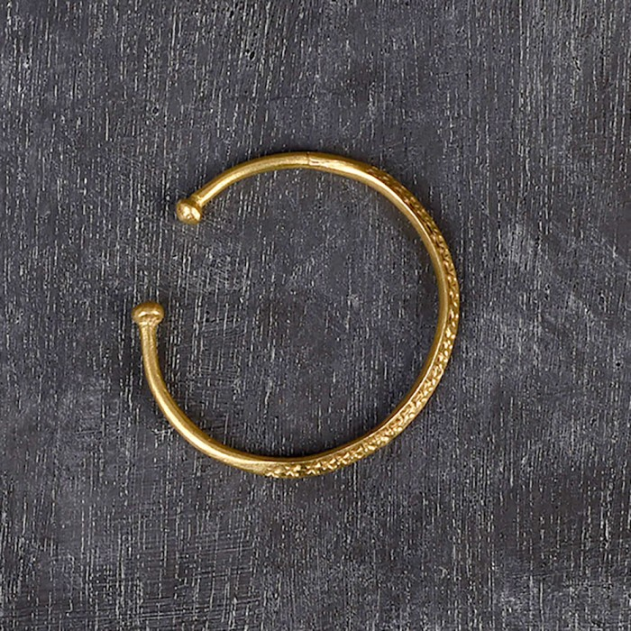 brass bangle from Mali