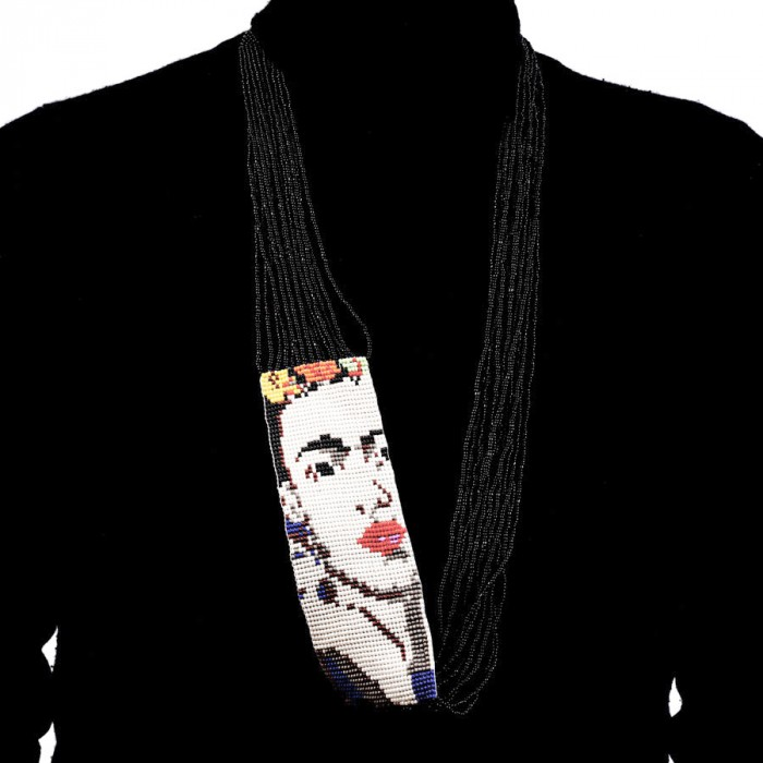 Black Beaded Frida Necklace SOLD OUT