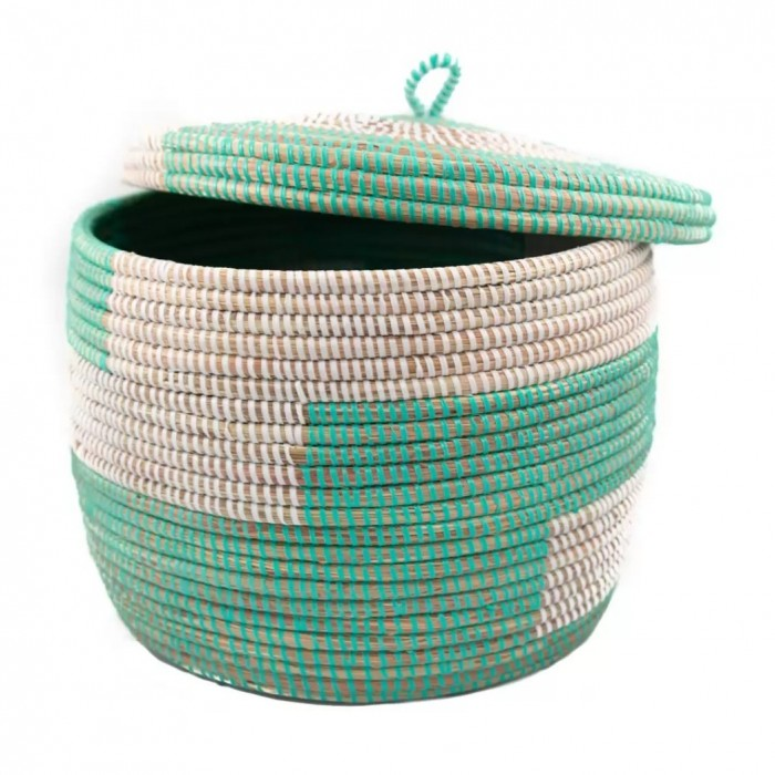 Flat lid basket