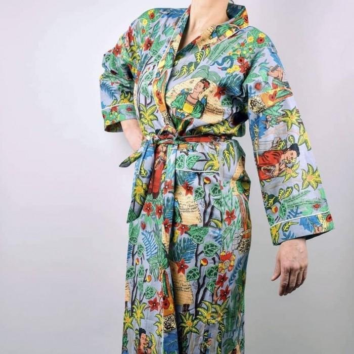 Frida's Garden Kimono Grey