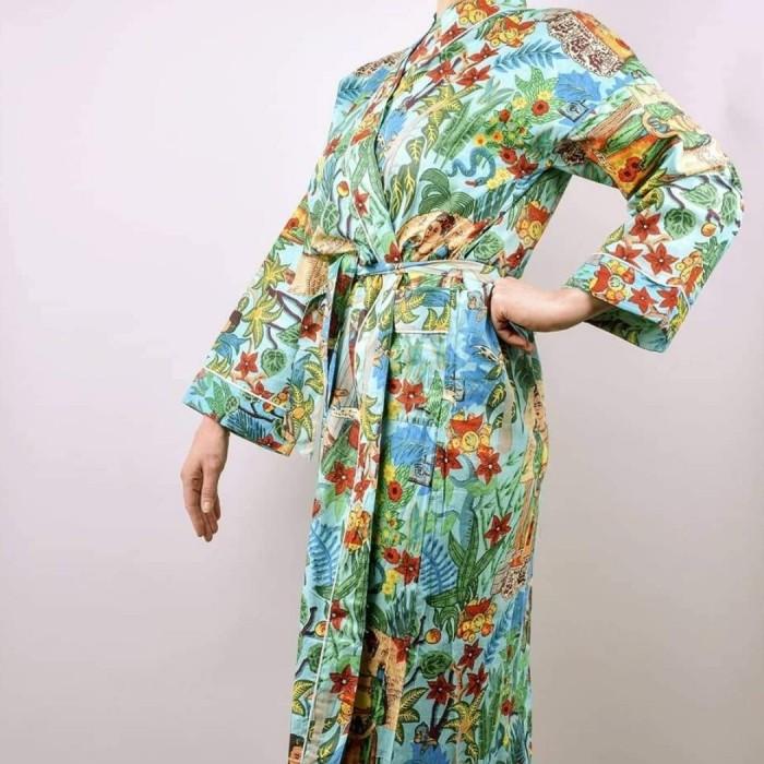 Frida's Garden Kimono Blue