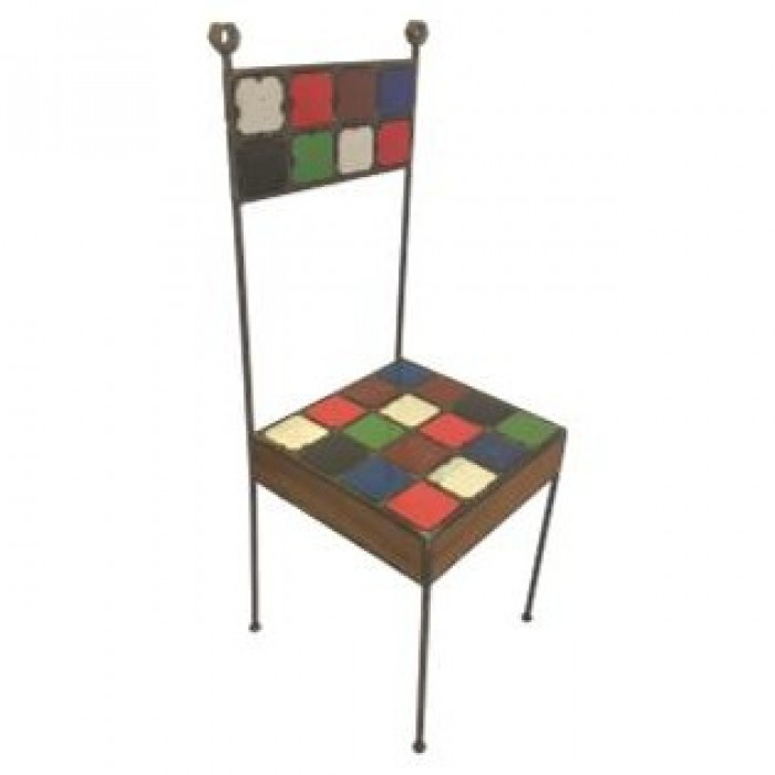 Bespoke recycled iron chair