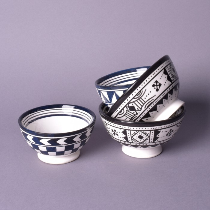 Ceramic bowls from Morocco
