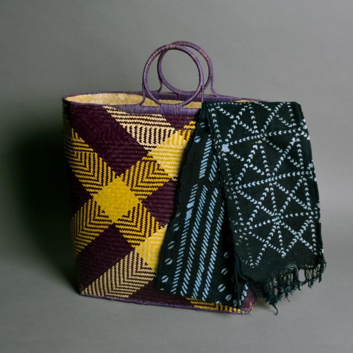 Raffia shopper from Madagascar