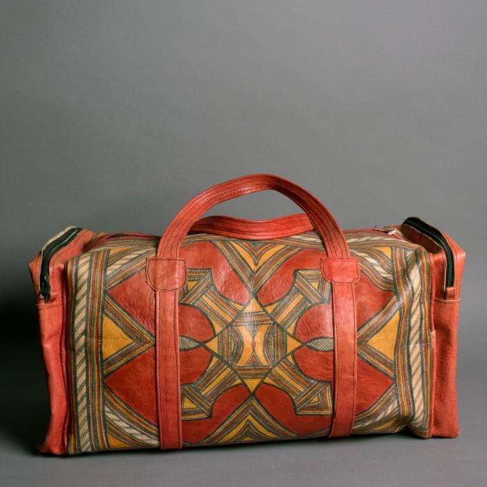Tuareg leather travel Bag